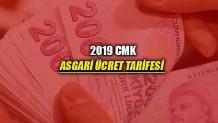 2019 CMK Ücret Tarifesi